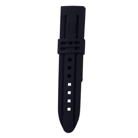 Bracelet montre pour homme silicone 24 mm noir