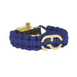 Bracelet paracorde bleu - boucle dorée - GTO