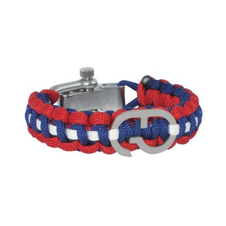 Bracelet paracorde couleurs Angleterre - Boucle acier - GTO