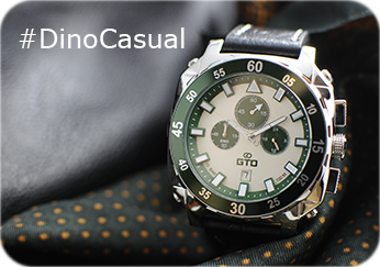 Montre carrée homme Dino casual