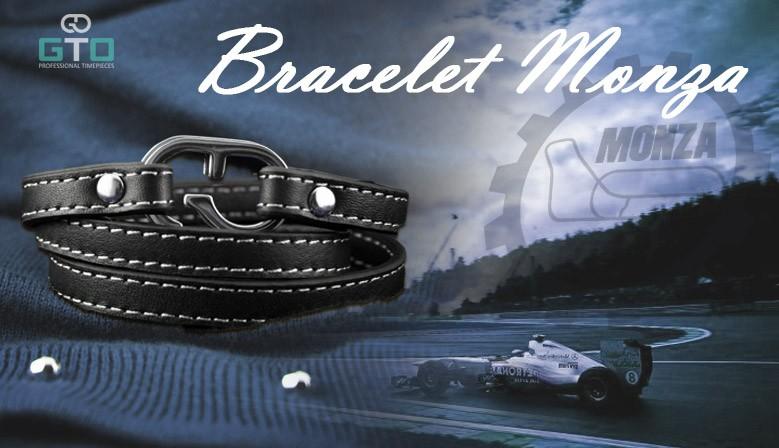 Bracelet cuir multiples mode avec fermoir GTO