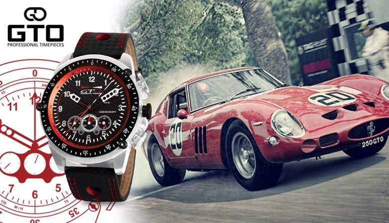 Montre homme Racer rouge - montres pour Homme by GTO